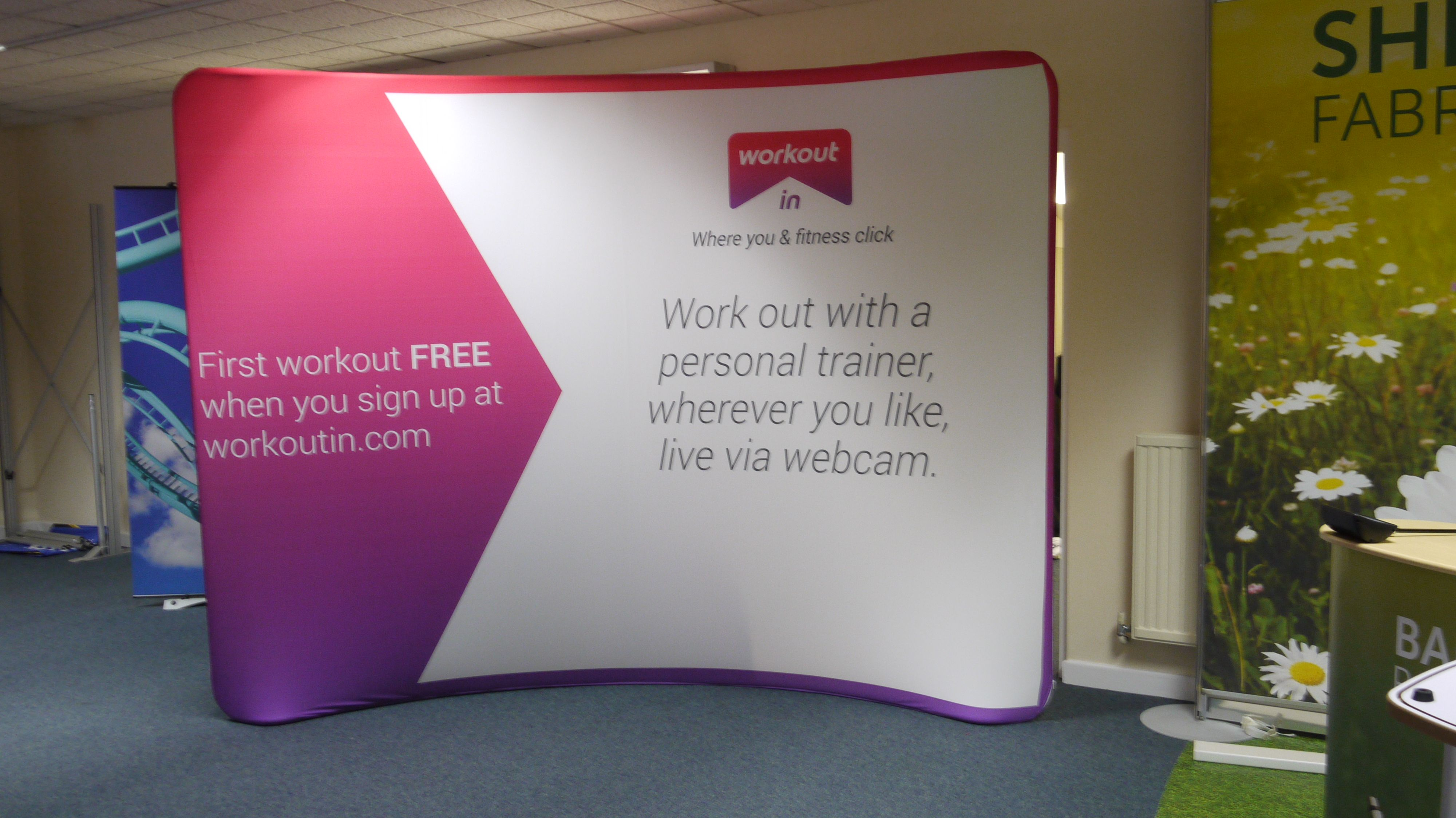 Fabric Exhibition Stand Uk : Texstyle curved fabric display texstyle curved fabric displays