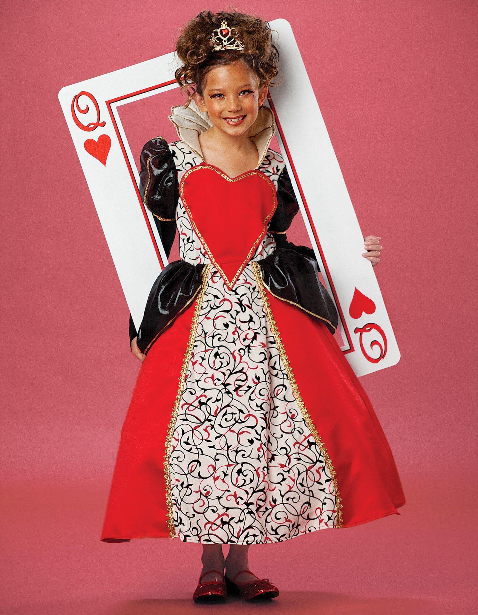 queen of hearts costume kids diy Queen of Hearts Child