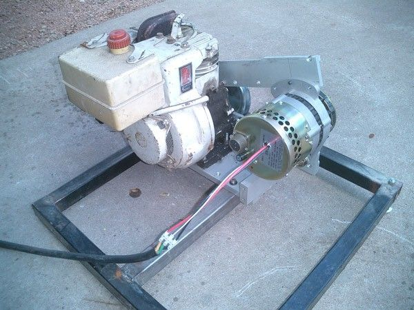 homemade generator. DC Generator By Maverick Solar -- Homemade Constructed From A Surplus Gasoline Engine H