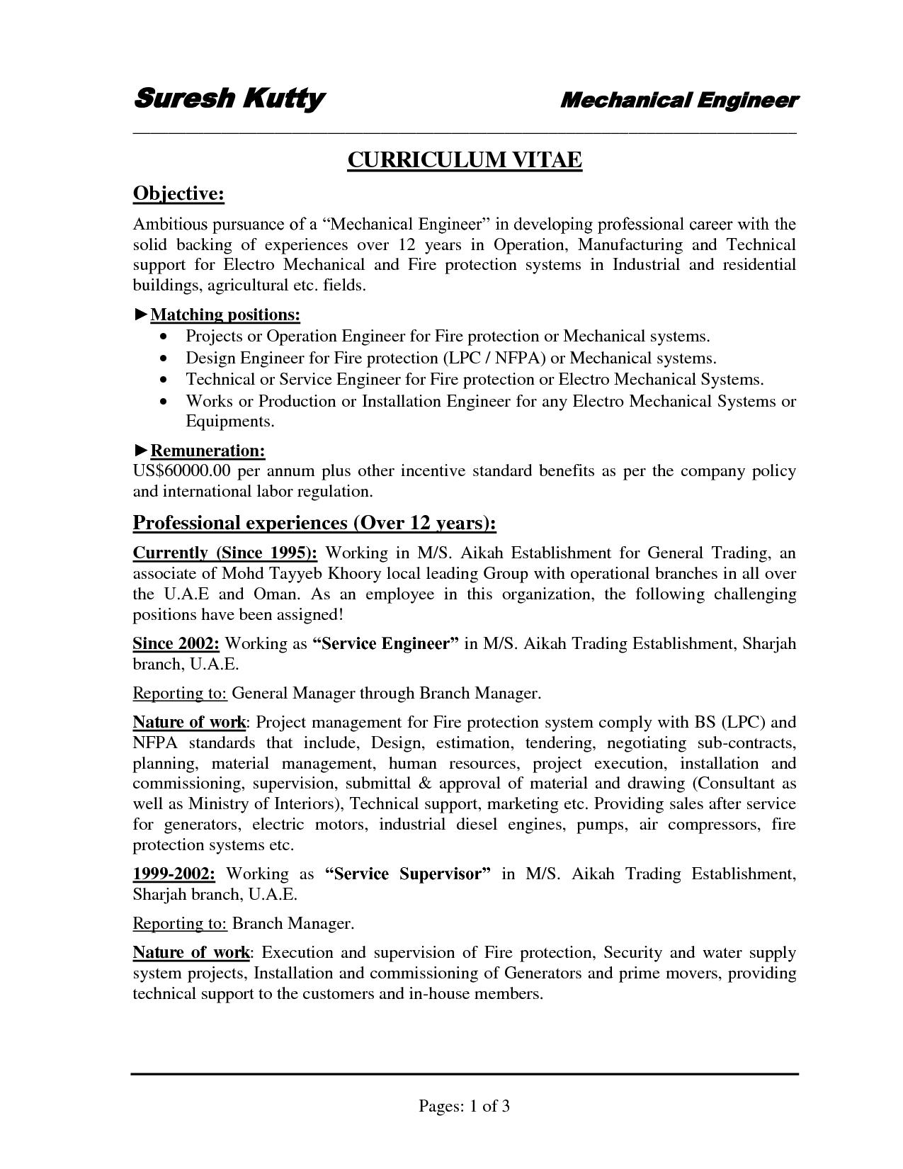 Mechanical Assembler Resume Examples - http://www.resumecareer.info ...