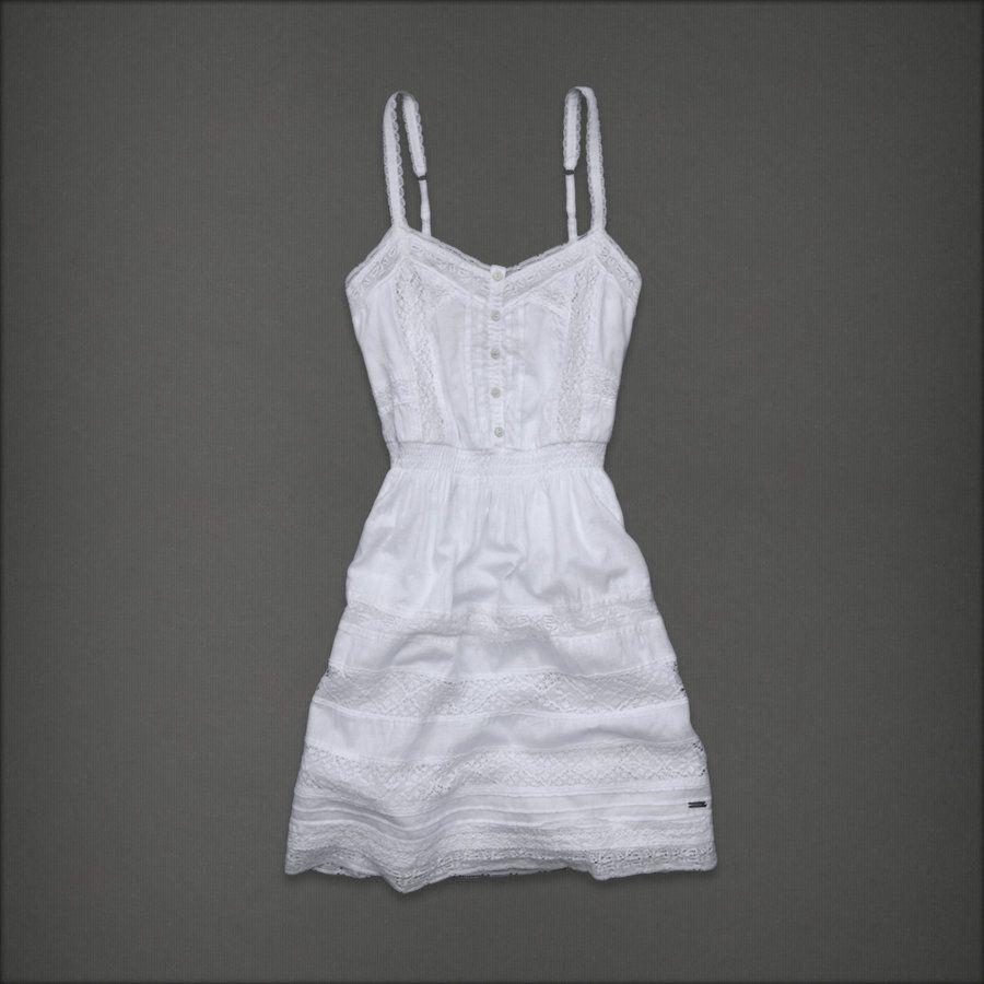 White lace apron ebay - Abercrombie Fitch White Lace Gwyneth Dress L Ebay