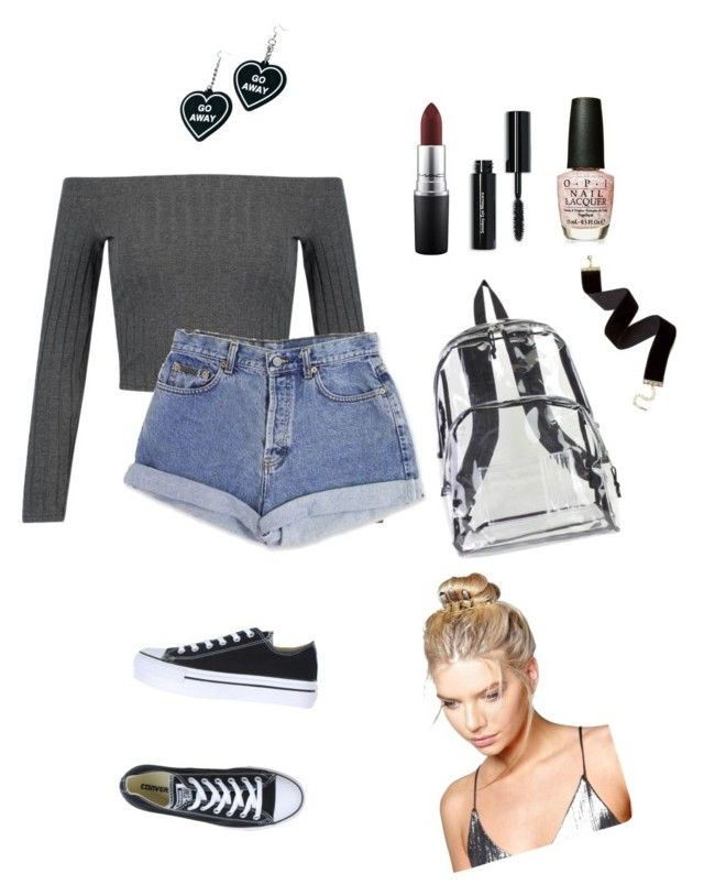 """""""Old fashioned"""" by mikeysfaveslice on Polyvore featuring WithChic, International, MAC Cosmetics, Calvin Klein, Bobbi Brown Cosmetics, OPI, Converse, Boohoo and Witch Worldwide"""