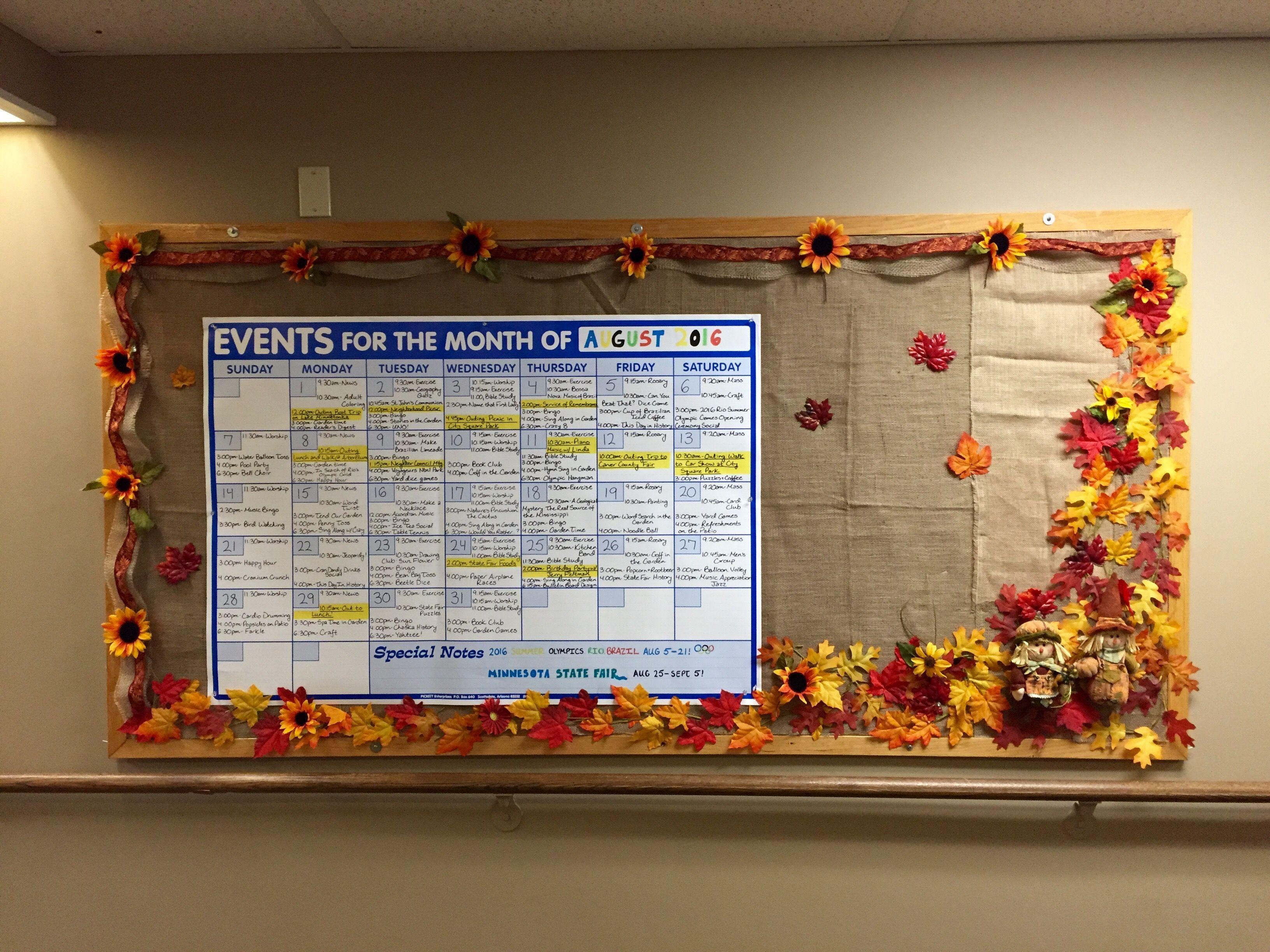 Fall Bulletin Board At Nursing Home Fall Bulletin Boards Work