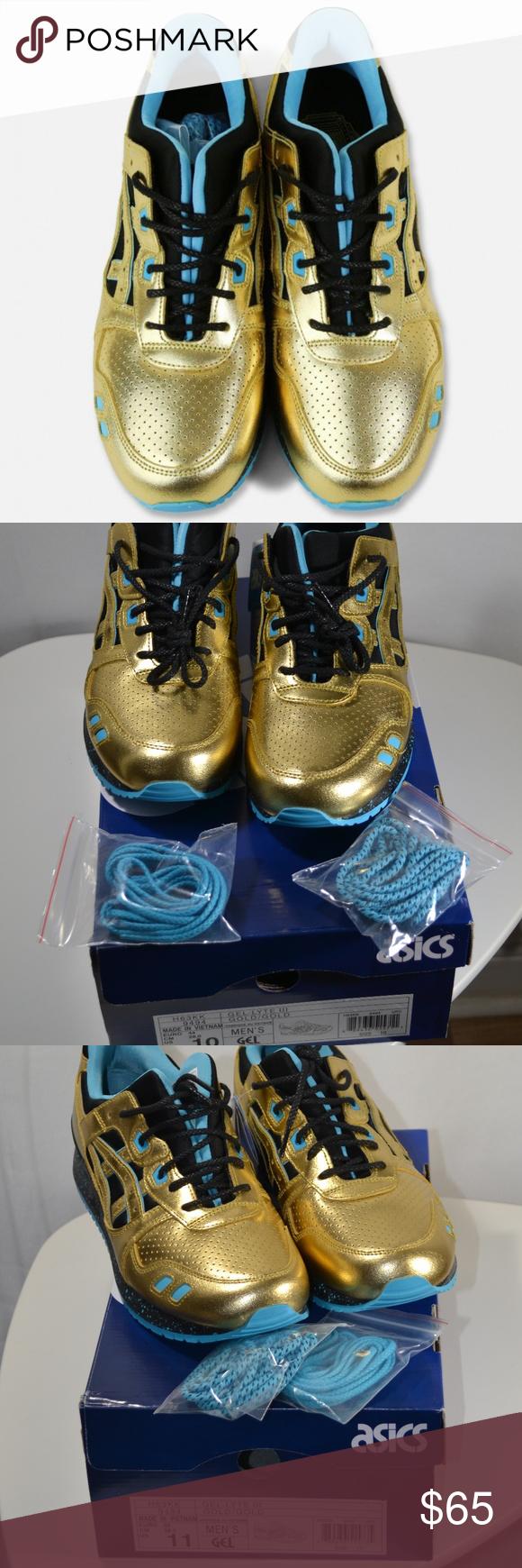 X Wale X Villa Gel Lyte III Shoes Gold