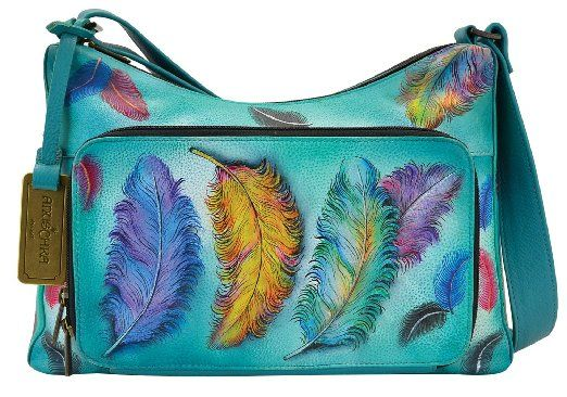 Anuschka Hand Painted Luxury - 479 Leather Hand Bag with Compartments and  Organizer. Women s Anuschka Twin-Top East-West ... 42c2f080fa204