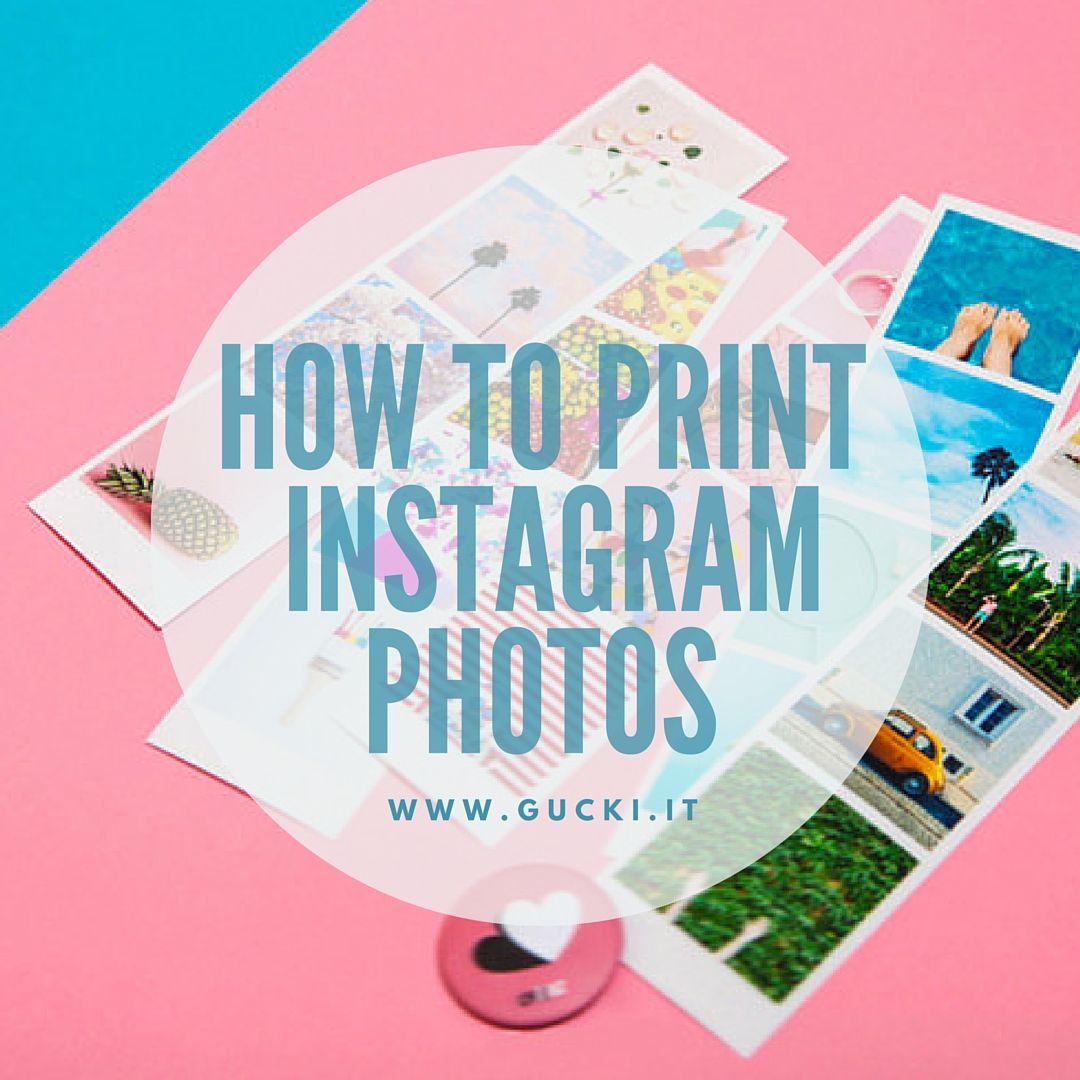 Stampare le foto da Instagram