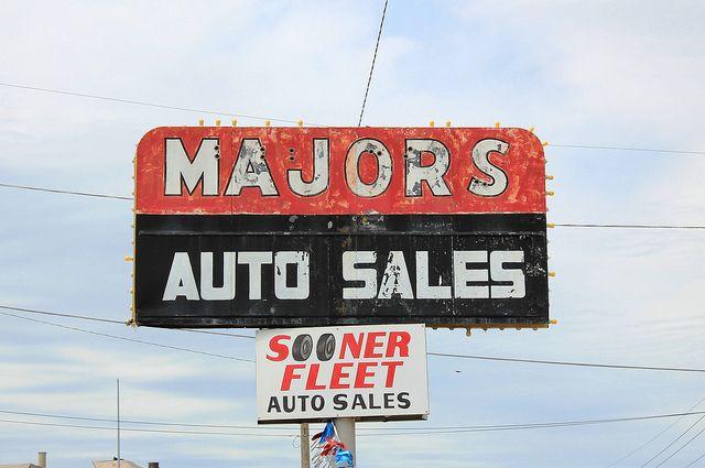 Majors Auto Sales Cars For Sale Auto Vintage Signs