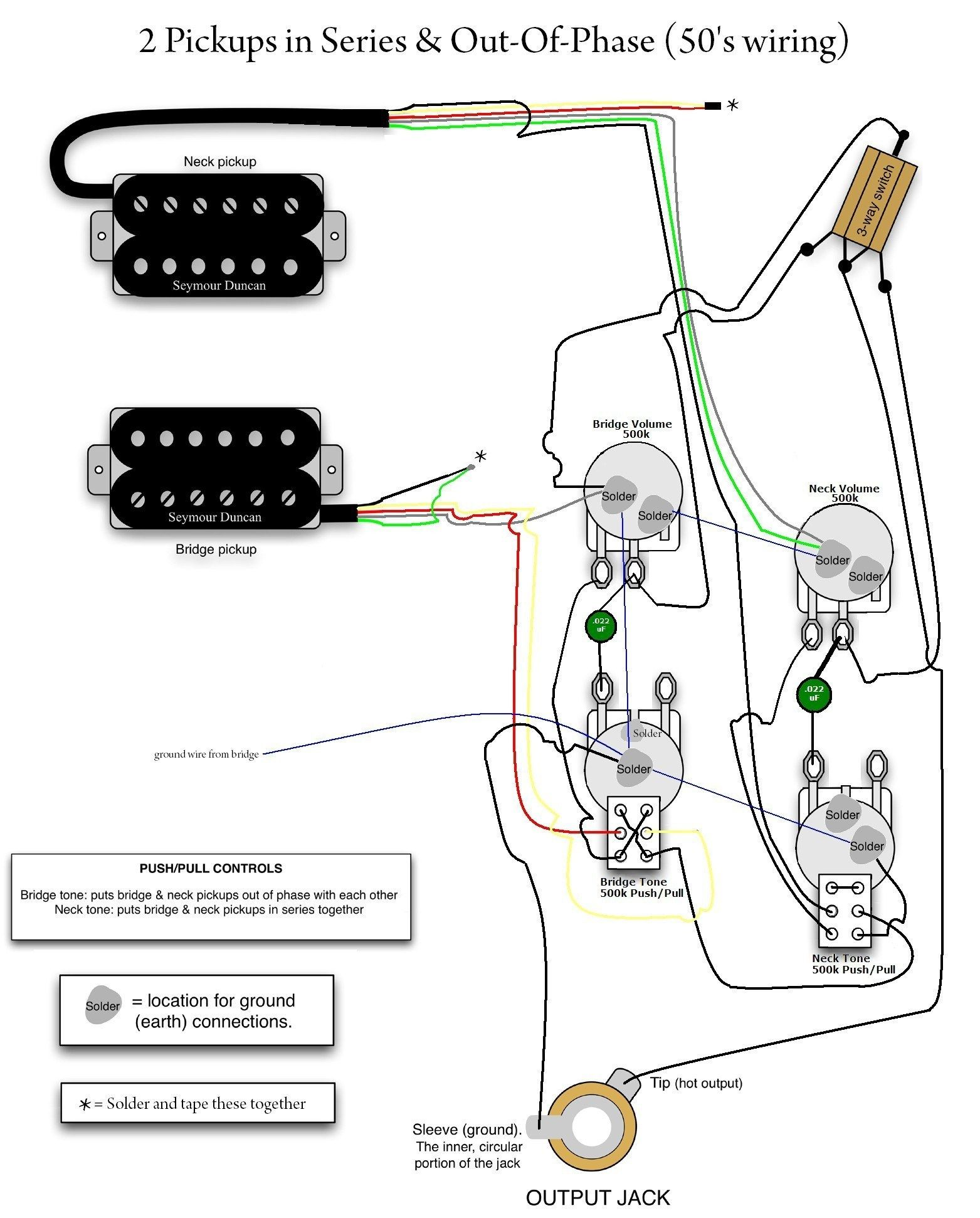 Mini Les Paul Wiring Diagram With Toggle S