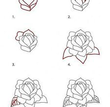 How To Draw A Classic Tattoo Style Rose Art Pinterest Drawings