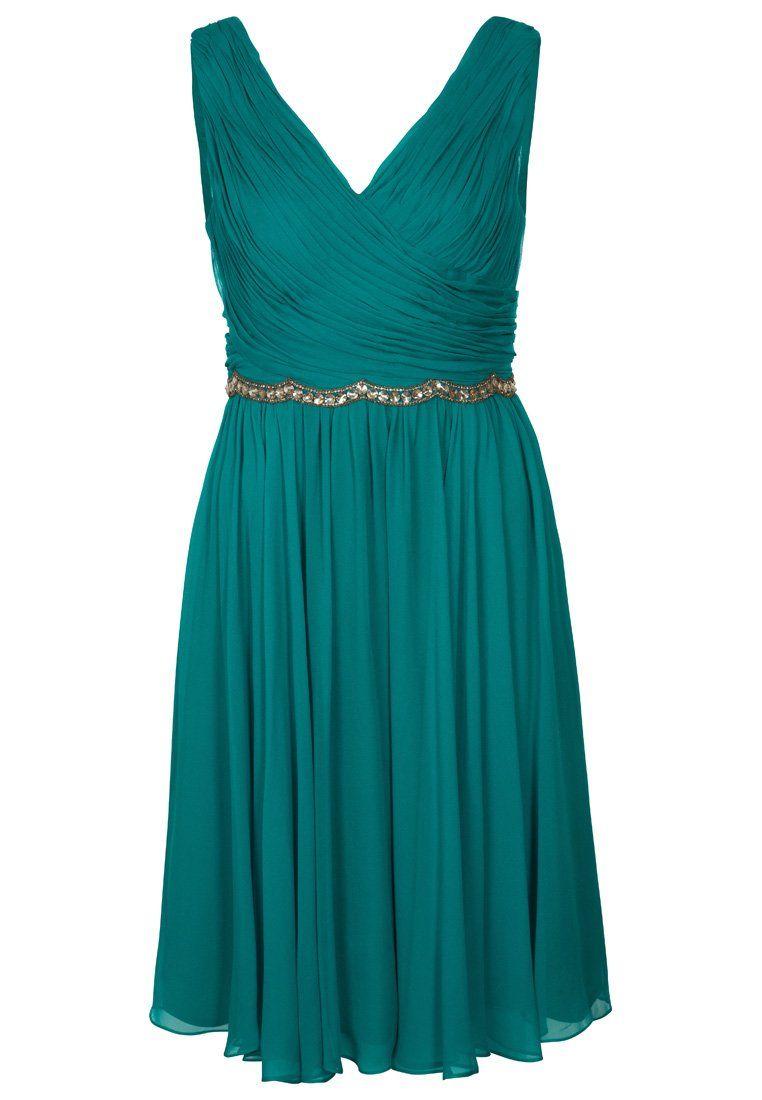 Marchesa Notte - Cocktailkleid / festliches Kleid - turquoise ...