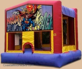 Superman Moonwalk Rentals Jacksonville Party Rentals Coastal Moonwalks Florida Bounce House Bounce House Parties
