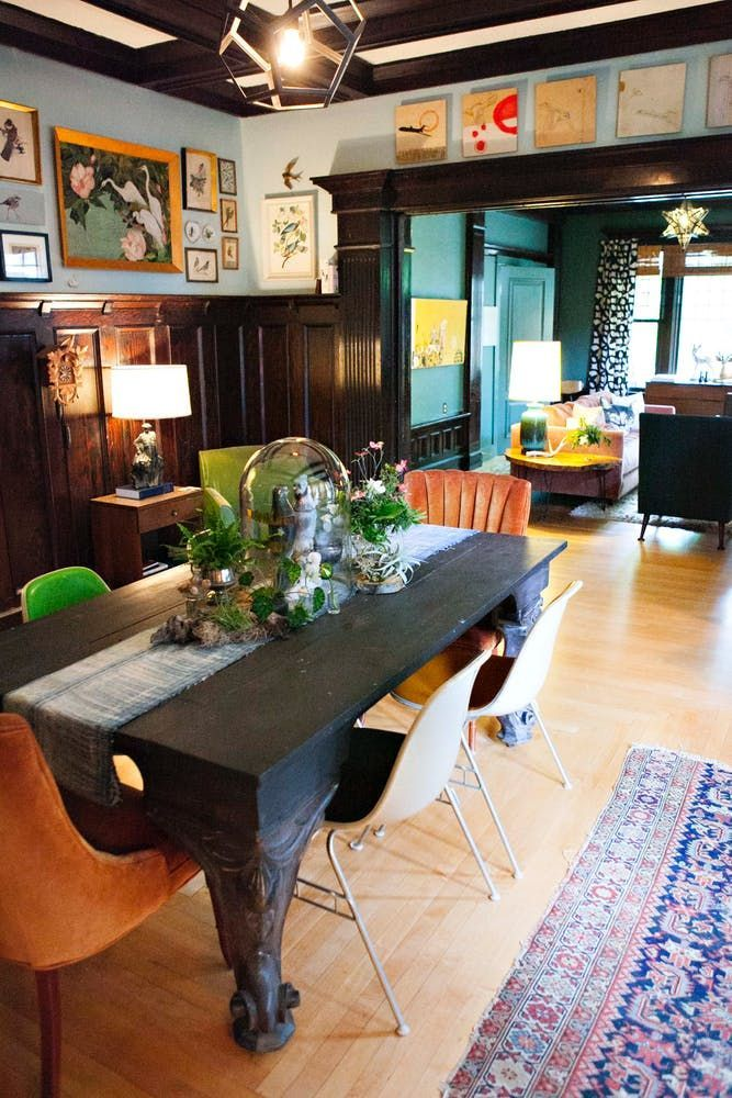 Photo of An Artistic, Colorful, Vintage-Inspired Home