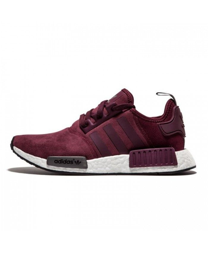 femme adidas nmd r1 runner suede w bordeaux marron solide. Black Bedroom Furniture Sets. Home Design Ideas