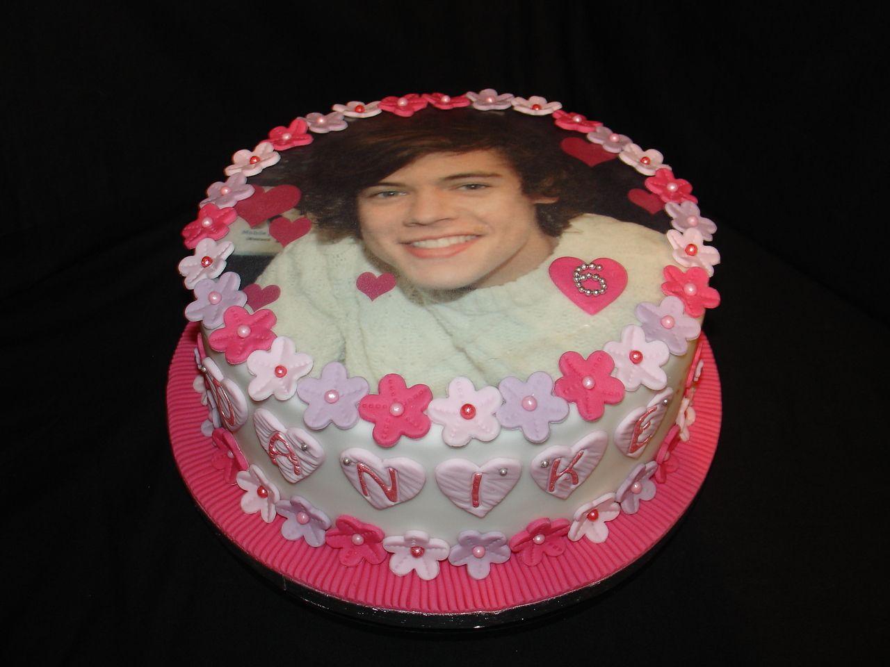 One Direction Harry Styles Fondant Cake Jan 2013 Harry
