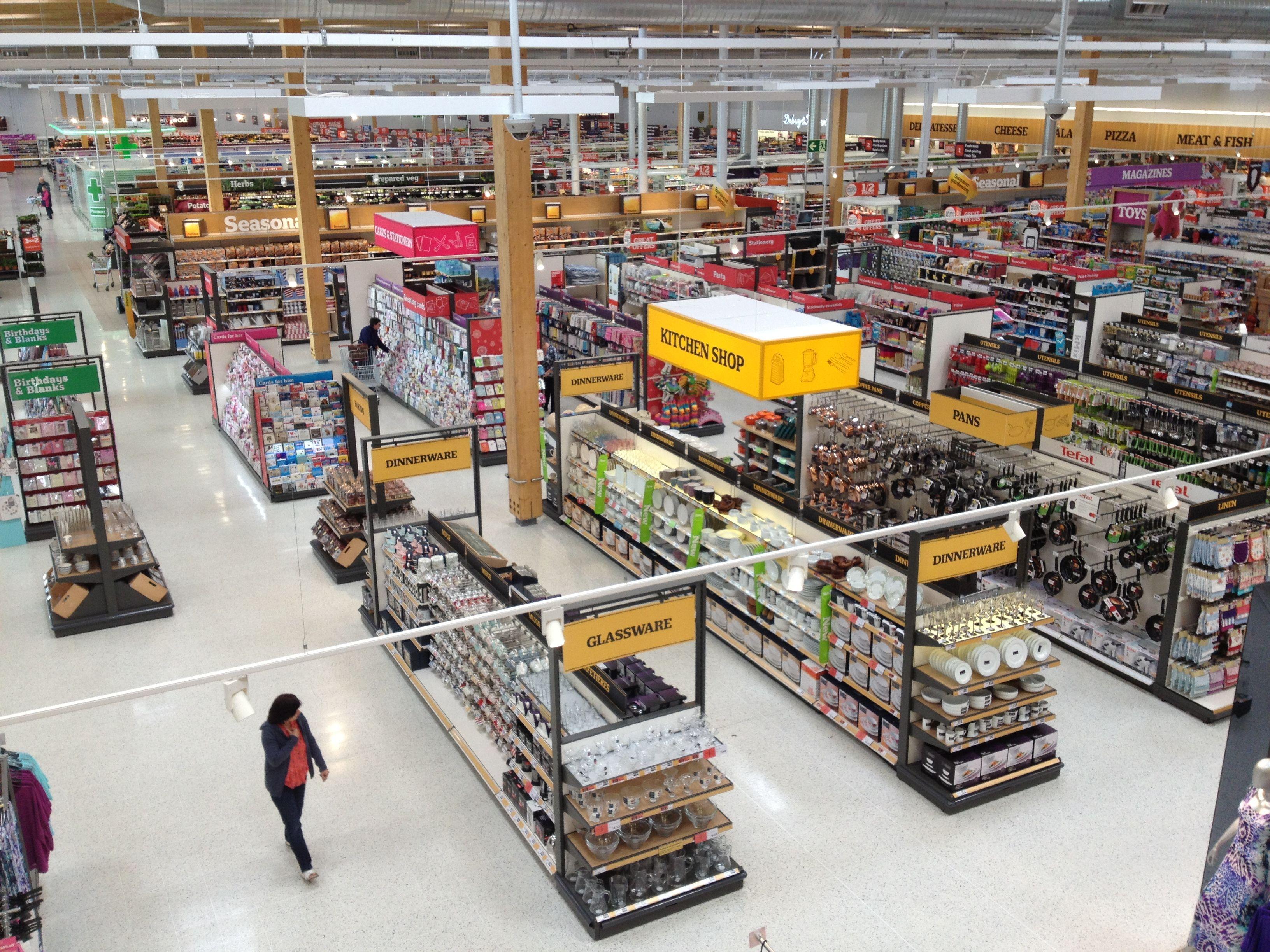 Sainsbury S Kings Lynn Homewares Home Cook Dine Supermarket General Merchandise Non Food Layou Supermarket Design Store Design Shop Interiors