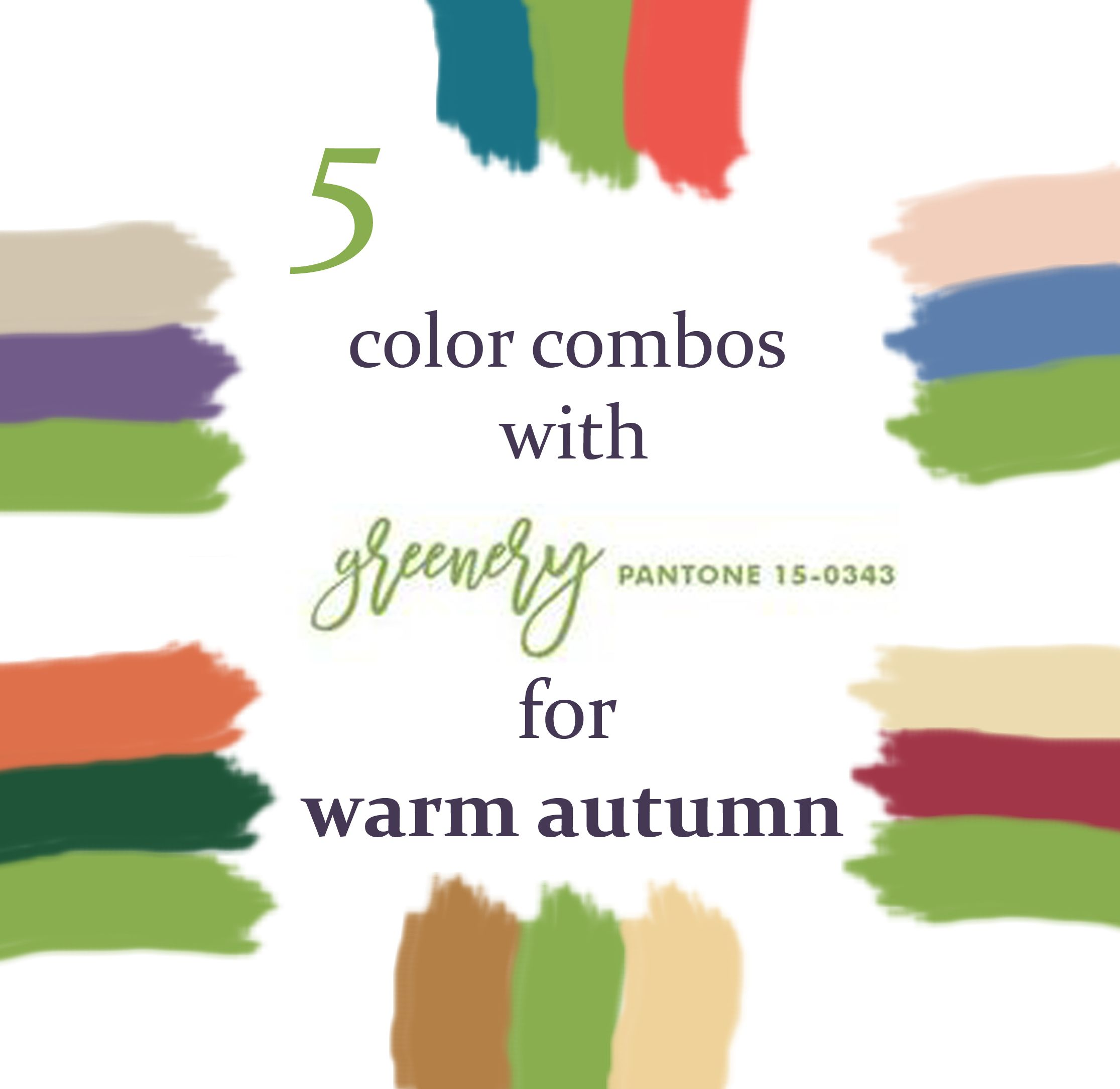 5 Color Combos With Greenery For Warm Autumn (True Autumn)