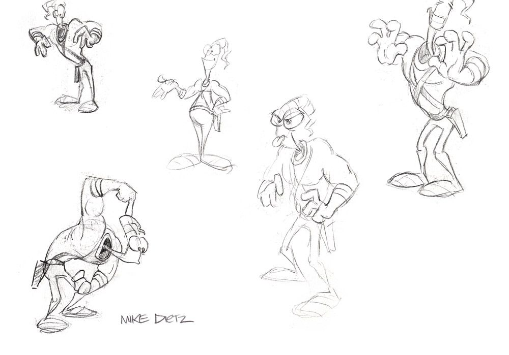 Earthworm Jim Concept Art and Paintings by the original video game team at Shiny Entertainment | Lemm's Earthworm Jim Fan Site - Rocket Worm!