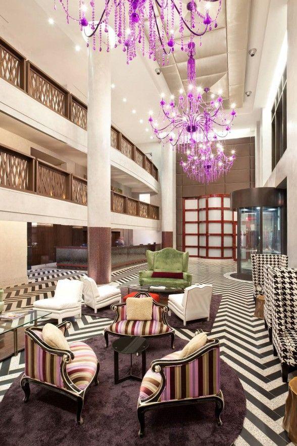 Gansevoort Park Avenue Hotel, New York City by Architect Stephen B. Jacobs  and Interior designer Andi Pepper