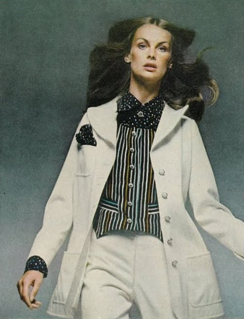 Jean Shrimpton by David Bailey for Vogue October 1971