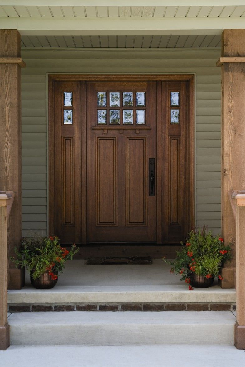 Fresh Craftsman Entry Door with Sidelights and Transom