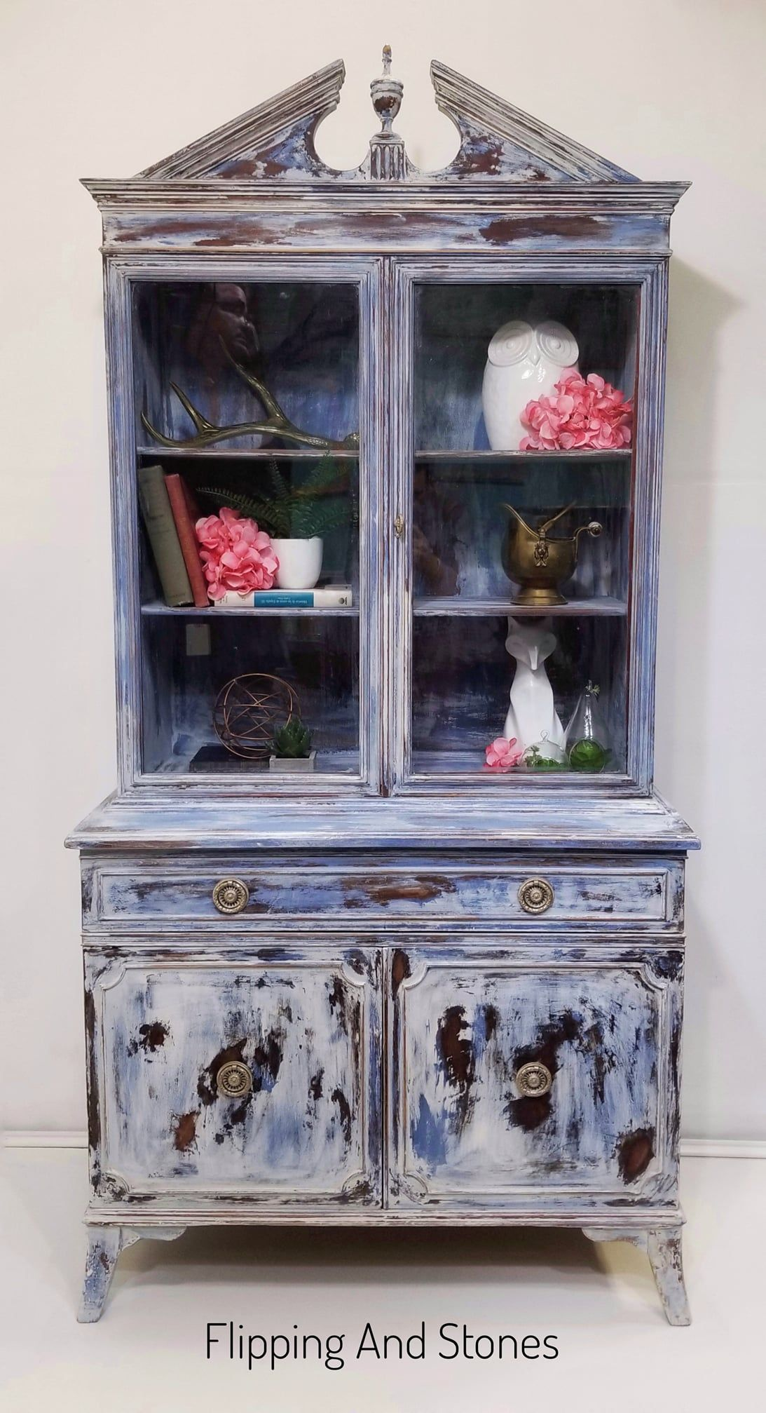 Custom Painted Hutch customer wanted the Anthropology look which