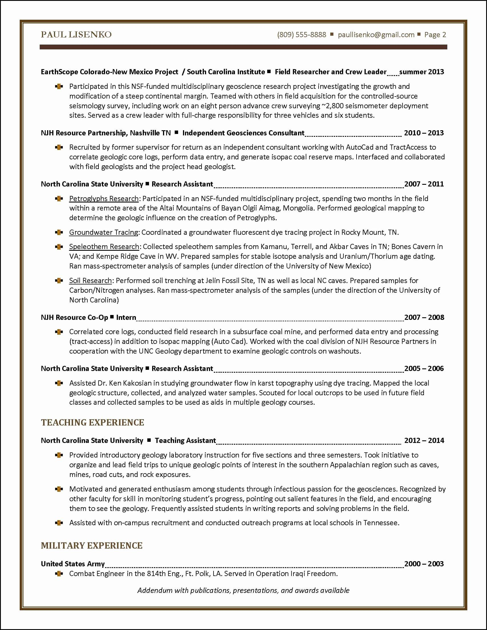 2 Page Resume Format Inspirational Student Resume Sample Resume Examples Teacher Resume Examples Job Resume Examples