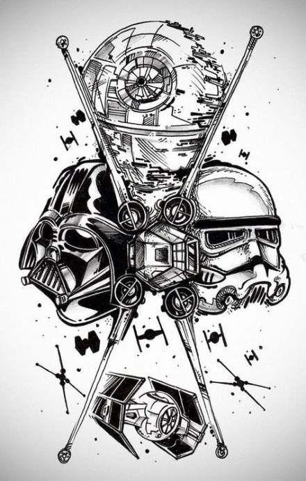 Photo of Tattoo Ärmel Ideen Zeichnungen Star Wars 52 Ideen
