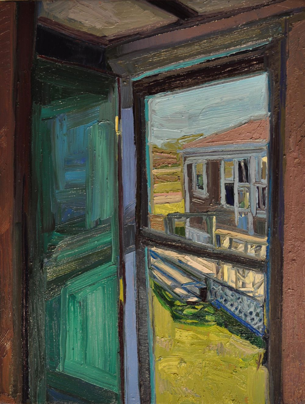 An empty cabin - oil on canvas, 26 x 20 inches, 66.1 x 50.8 cm by Julia Vandepolder