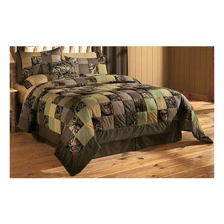 Cabela S Camo Patchwork Quilt Set Cabela S Canada Casas Casal Patchwork