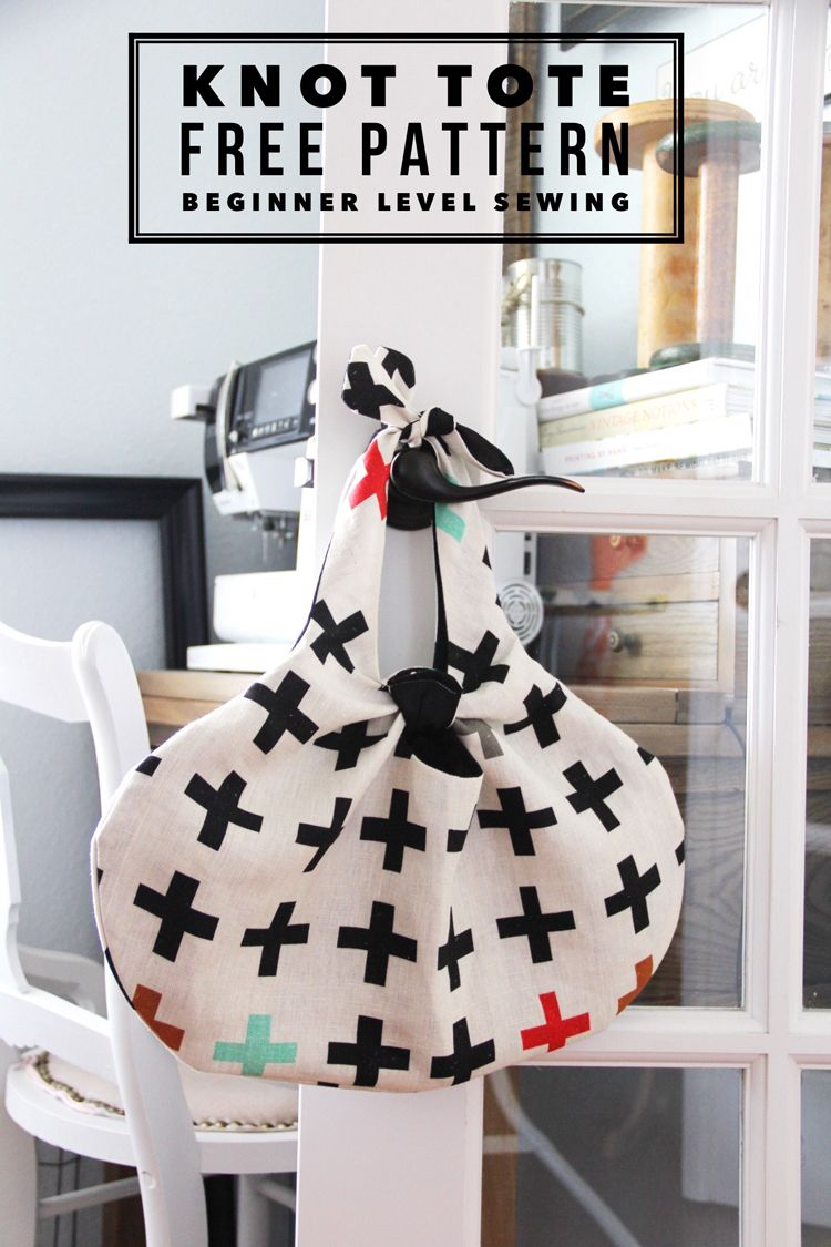 Knot Tote Free Pattern | Sewing | Pinterest | Bolsos, Costura y ...
