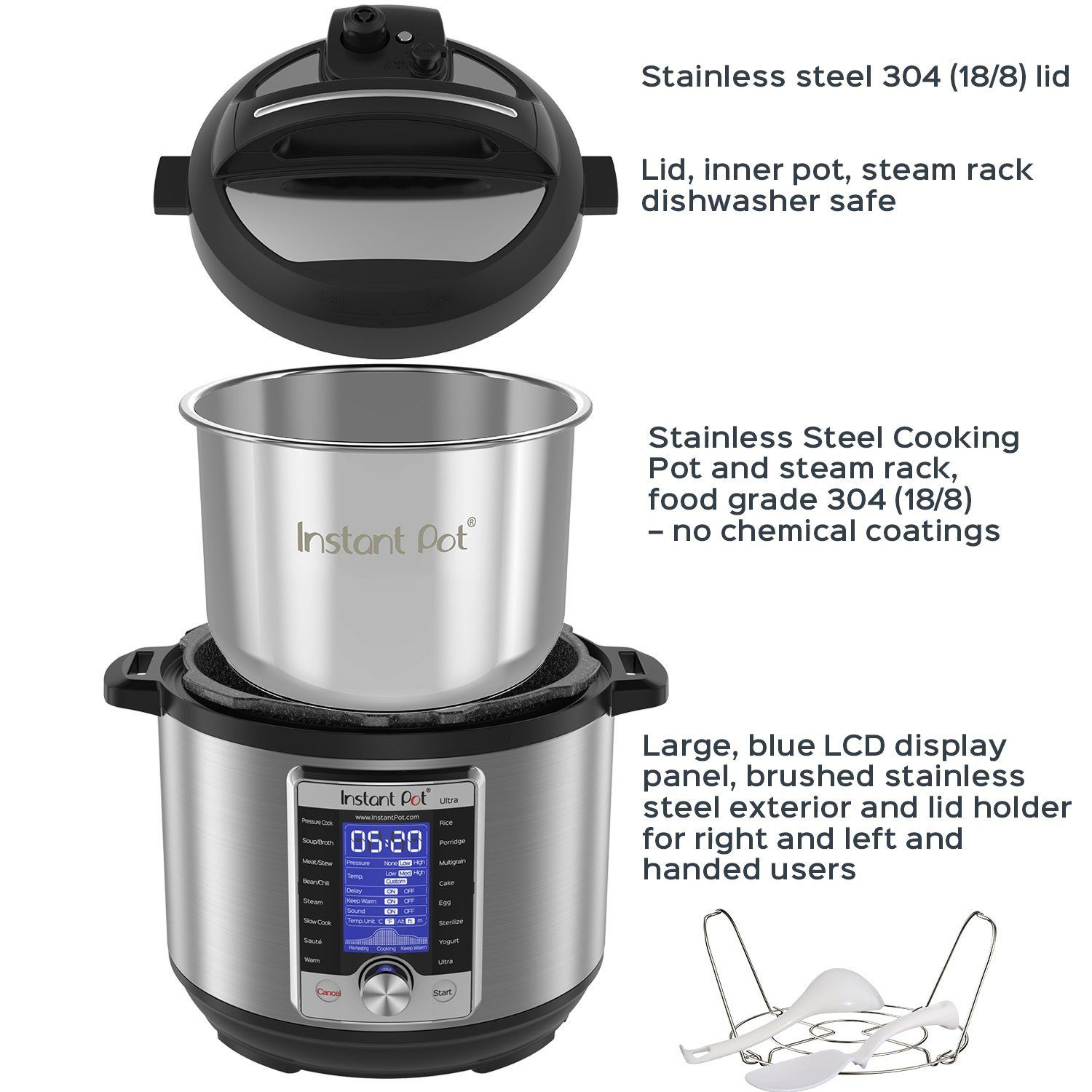 Instant Pot Ultra 6 Qt 10-in-1 Multi- Use Programmable Pressure ...