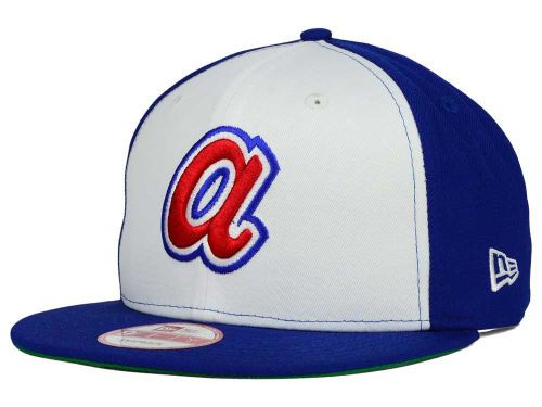 Atlanta Braves New Era MLB 2 Tone Link Cooperstown 9FIFTY Snapback Cap Hats b1dcde90da0