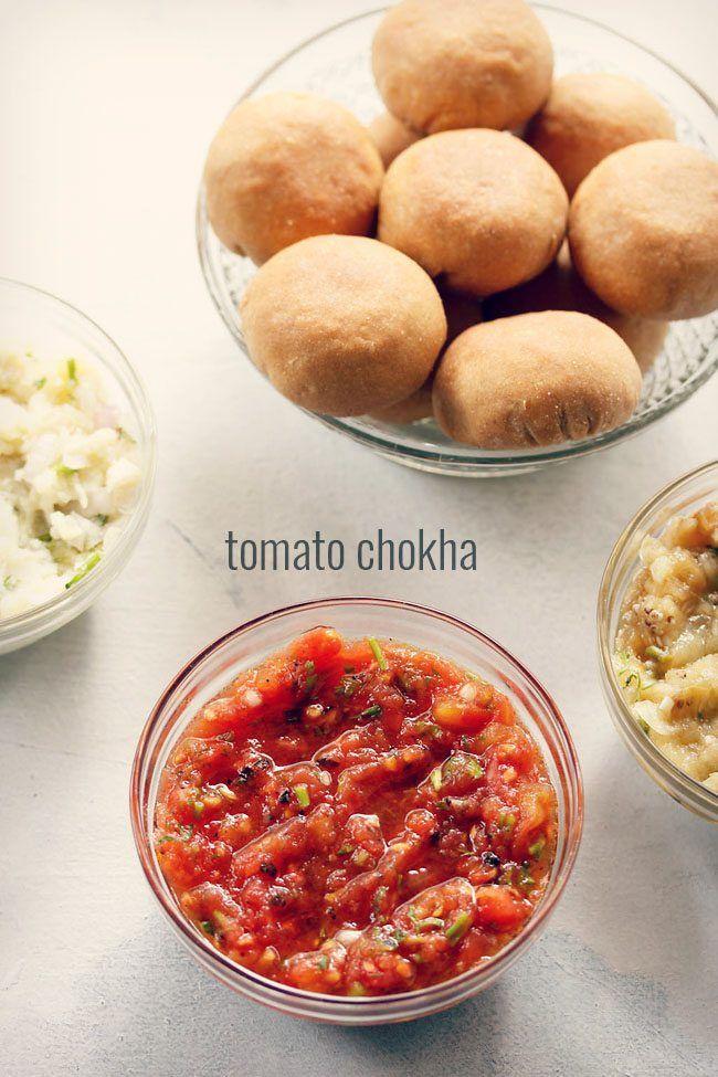Litti chokha recipe fire roasted tomatoes mustard oil and mustard forumfinder Choice Image