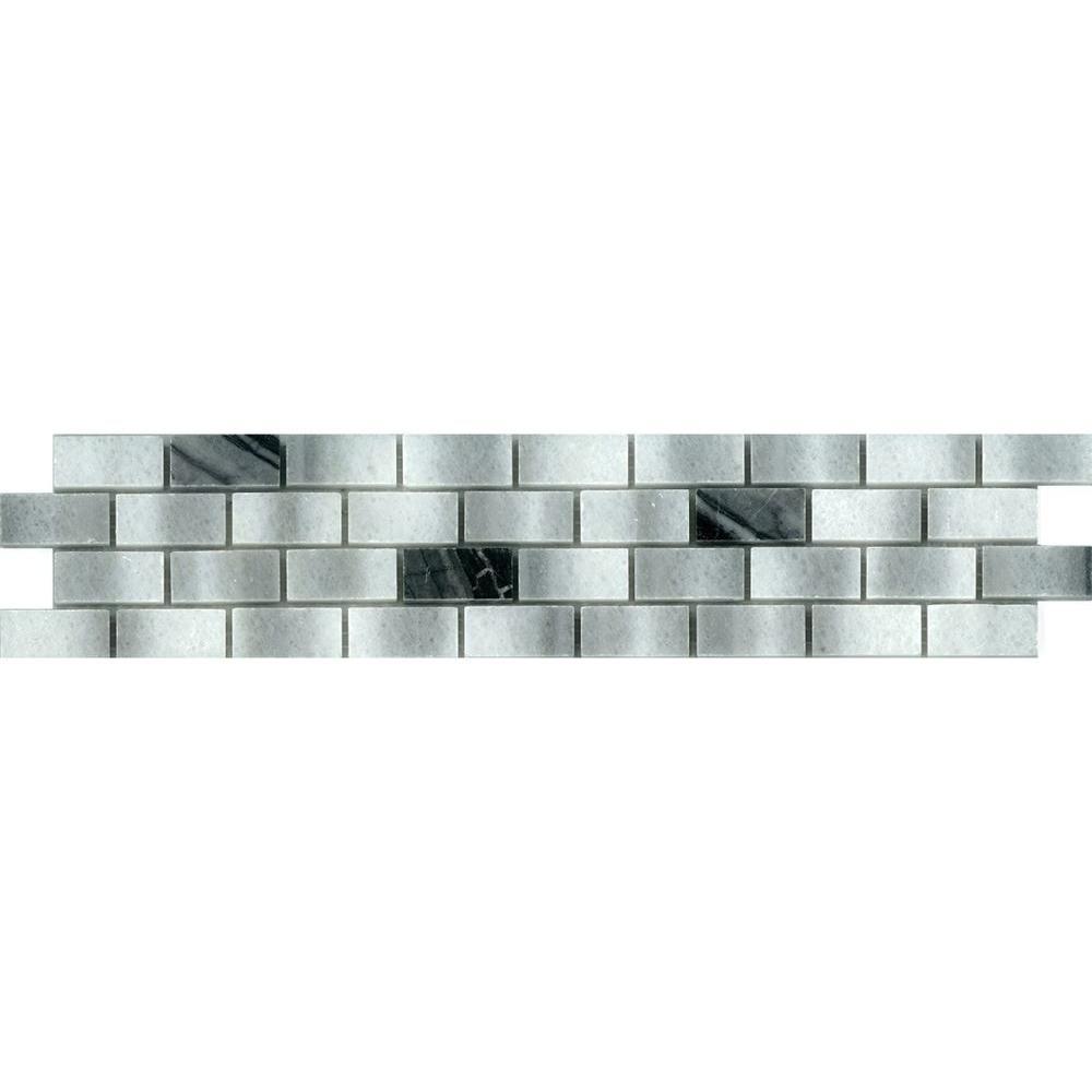 Daltile snow illusion 2 58 in x 12 in ceramic decorative accent daltile snow illusion 2 58 in x 12 in ceramic decorative accent wall tile doublecrazyfo Gallery