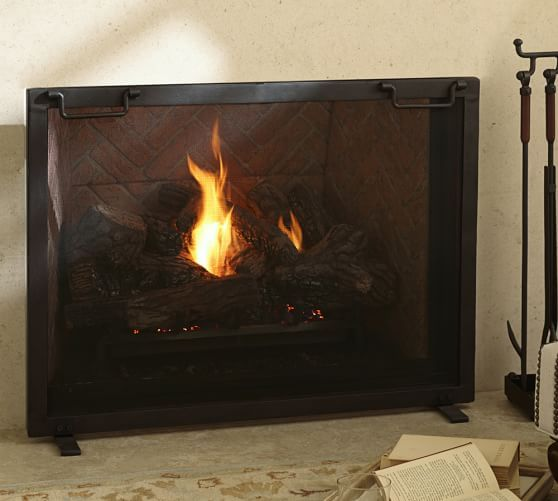 Industrial Fireplace Single Screen Industrial Fireplaces