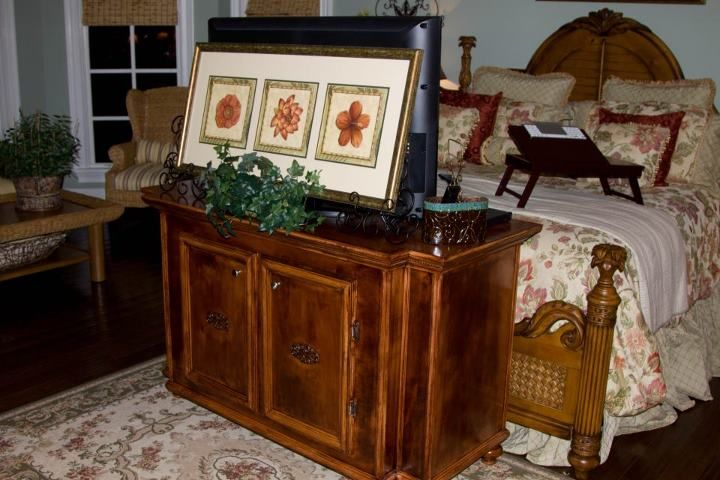 tv stand at the end of the bed house work pinterest tv stands. Black Bedroom Furniture Sets. Home Design Ideas