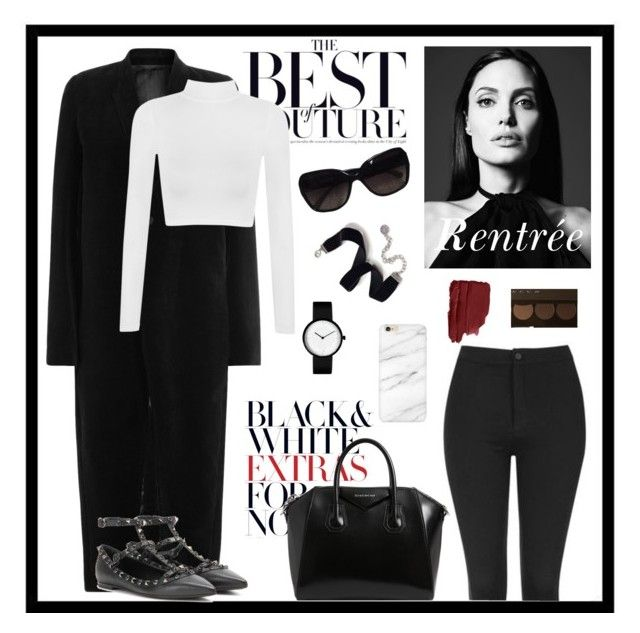 """""""Back school 2"""" by zoe-goubeau ❤ liked on Polyvore featuring Givenchy, Rick Owens, Topshop, Valentino, Chanel, Becca, Sweet Romance and WearAll"""