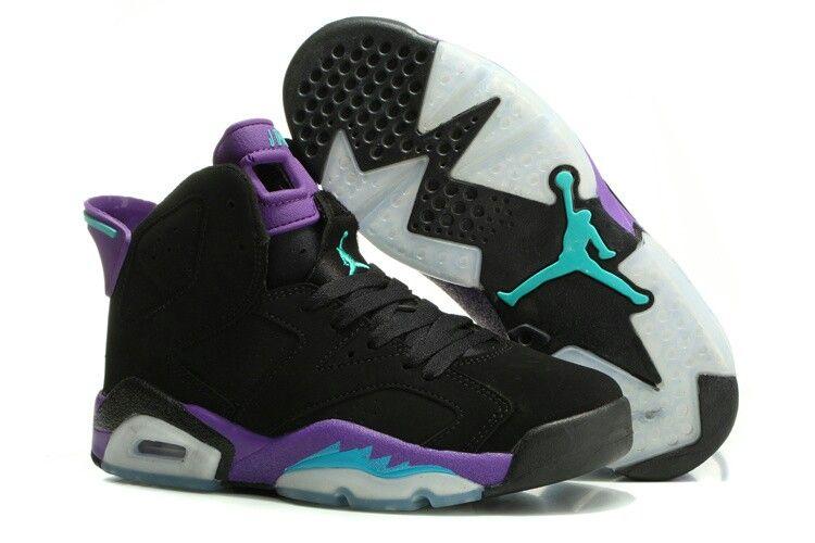 sports shoes 94f64 d8416 greece womens air jordans 6 retro gs black grape 759dc 63fdd