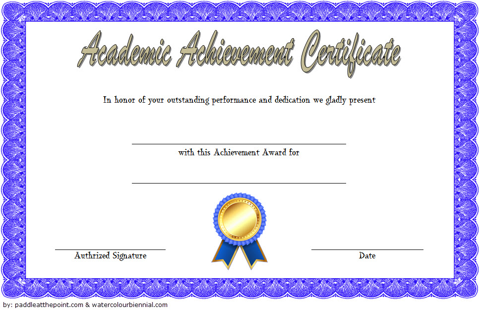 Academic Achievement Award Certificate Template FREE 1 ...