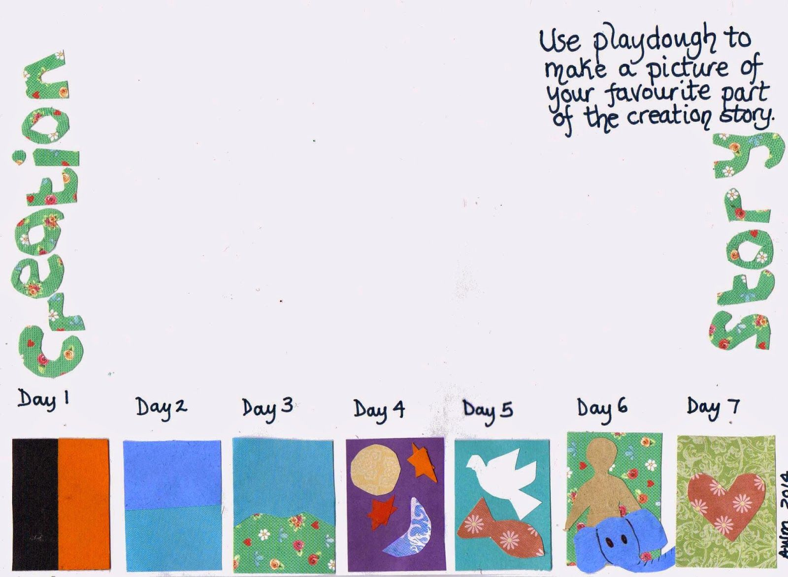 Flame Creative Children S Ministry Creation Story Play Dough Mat Print Laminate And Create