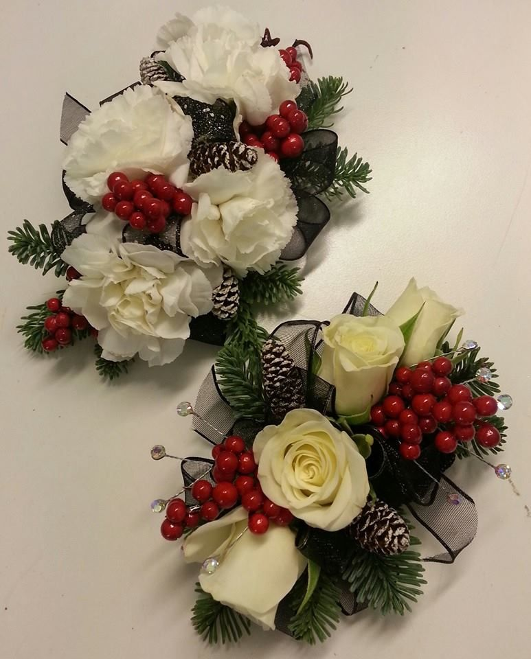 Wedding Flowers Corsage Ideas: More Winter Corsages And Boutonniere Penny's Florist Shop