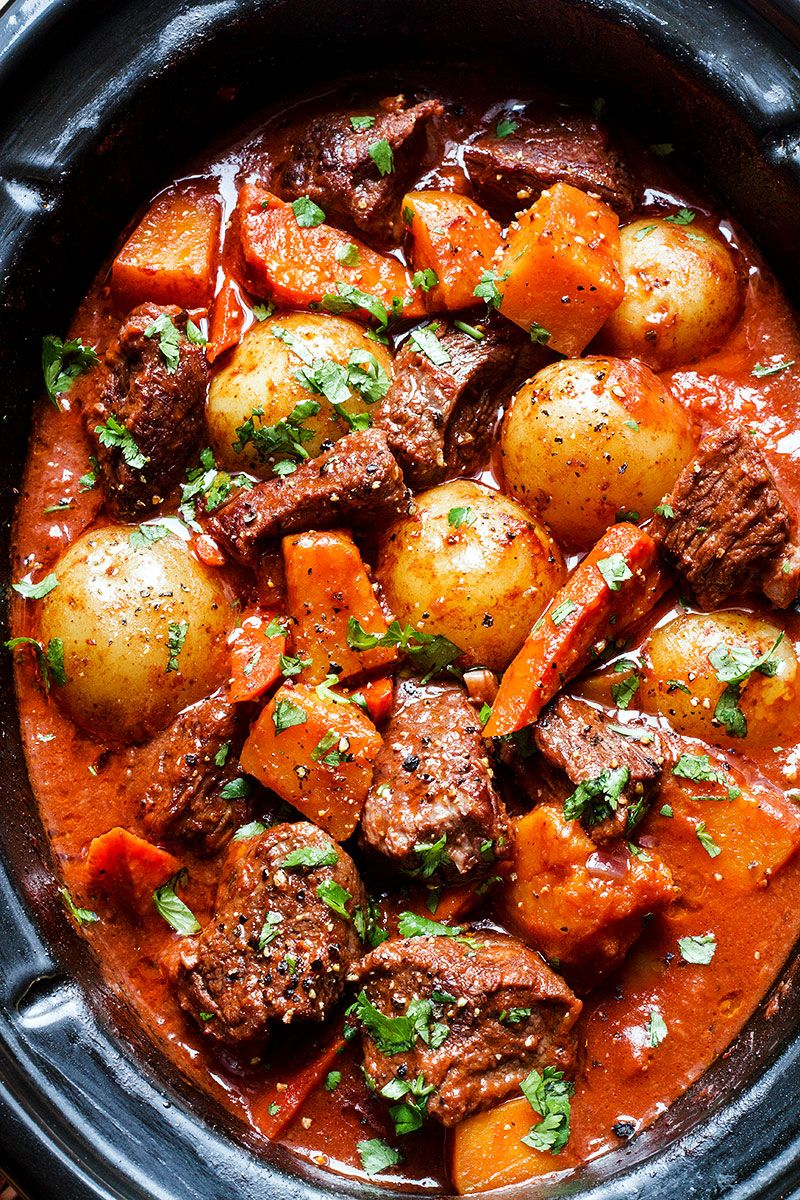 Slow Cooker Beef Stew Recipe With Butternut Carrot And Potatoes Recipe Beef Stew Recipe Slow Cooker Recipes Beef Stew Slow Cooker Beef Stew