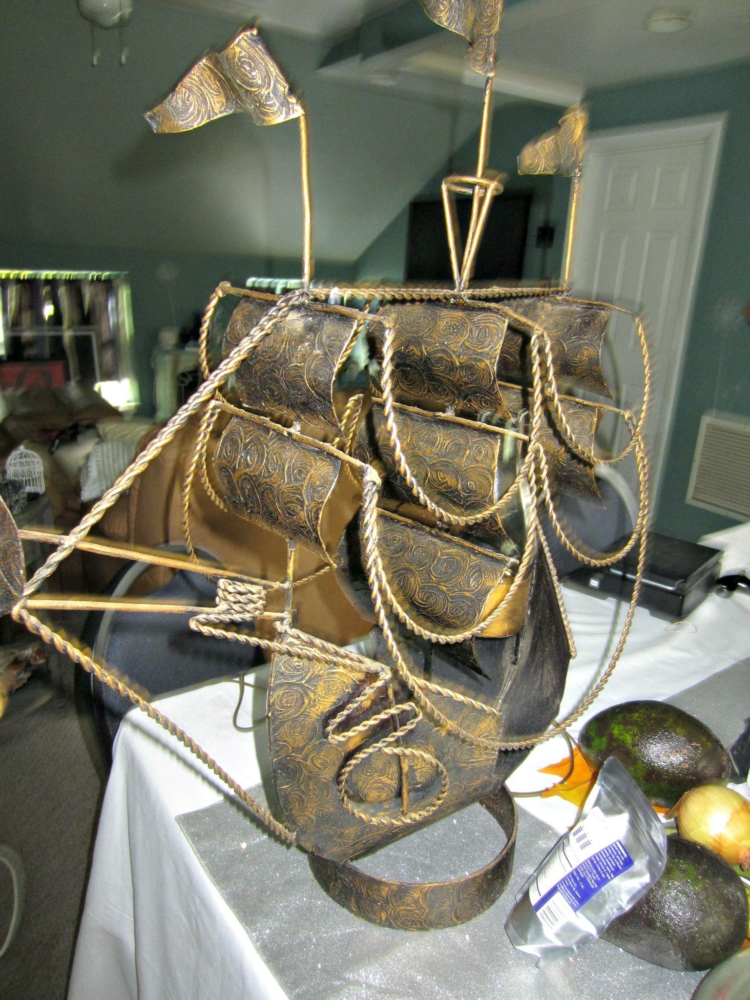 Pirate Ship Chandelier Vintage Lamp Makeover