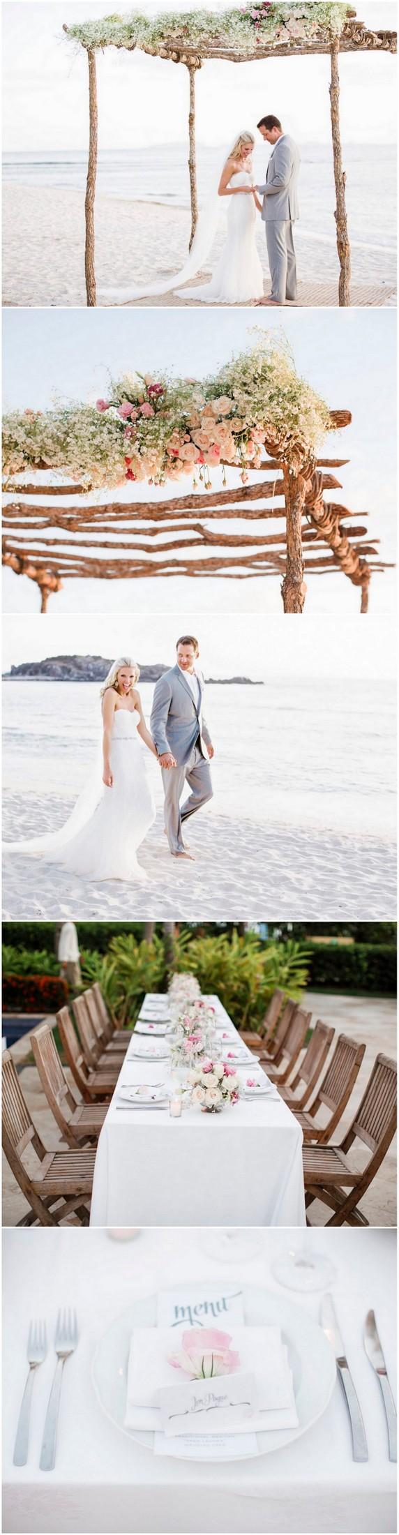 Dreamy Blush Punta Mita Destination Beach Wedding {Caroline Ross ...