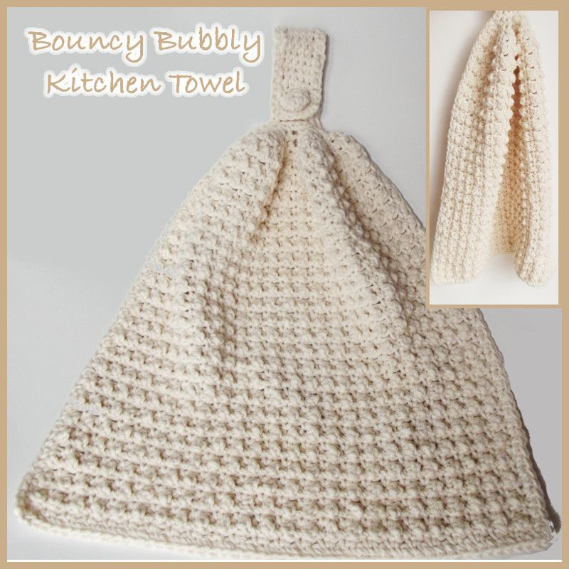 Bouncy Bubbly Kitchen Hand Towel | crochet kitchen | Pinterest ...