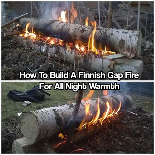 Disaster Survival Skills: How To Build A Finnish Gap Fire For All Night Warmth