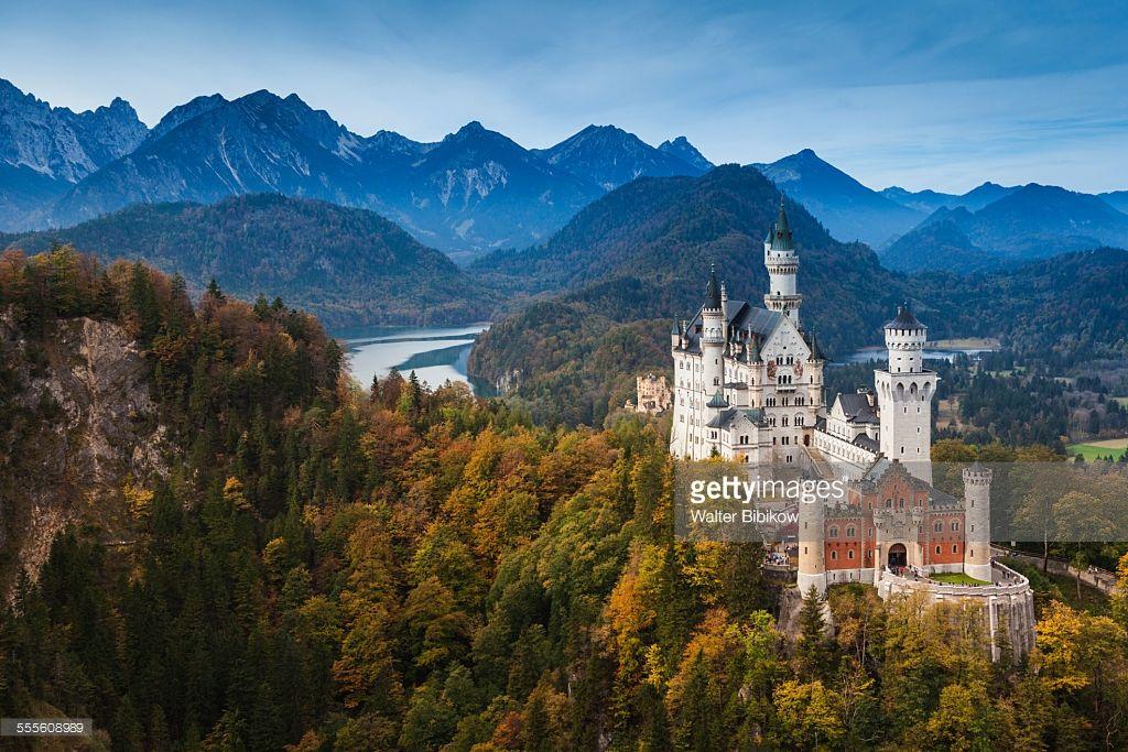 Germany Bavaria Hohenschwangau Schloss Neuschwanstein Castle Neuschwanstein Castle Schloss Neuschwanstein Bavaria