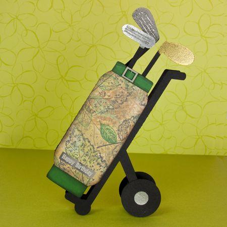 Golf Bag Card for cardmaking