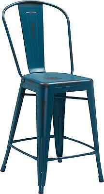 Super Distressed Metal Stool Farmhouse Coastal Indoor Outdoor Creativecarmelina Interior Chair Design Creativecarmelinacom