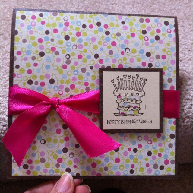 Handmade Birthday Card For Girls Card Ideas Pinterest Handmade